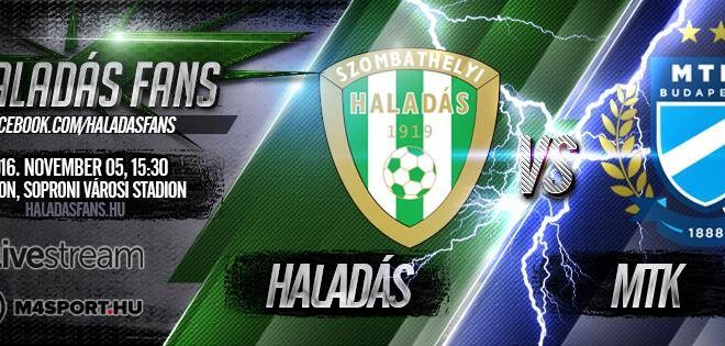 Szombathelyi Haladás-MTK Budapest 1-1 (1-1)