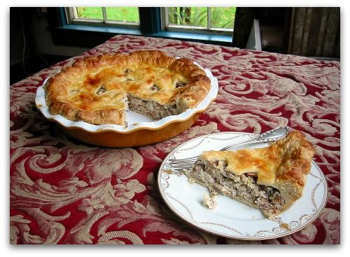 mushroom pie slice Slicin Up Some Chanterelle Mushroom Pie | recipes ...
