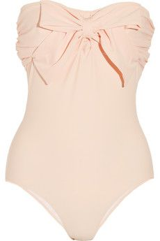 Miu Miu Bow Bandeau Swimsuit - Very Vintage Glam! Love with a light beautiful floppy hat!!