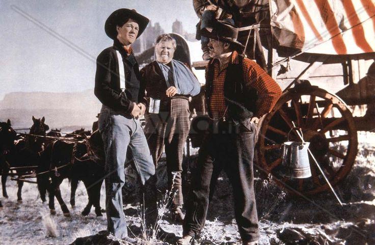 WAGONMASTER (1950) - Ben Johnson & Ward Bond - Directed by John Ford - RKO-Radio - Lobby Card.