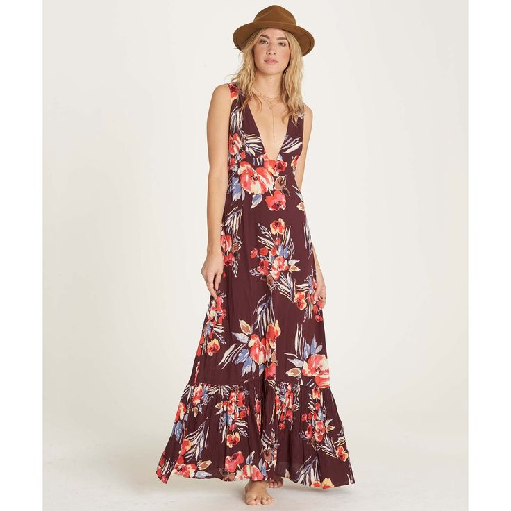Get free shipping and returns on all orders at the Billabong Online Store. Waikiki vibes drift into balmy nights in this modern take on the floral maxi dress