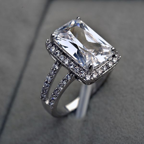 25+ Best Rectangle Engagement Rings Ideas On Pinterest