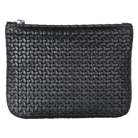 Black Leather Clutch - The Willow is a beautiful pouch style bag. It can be used as a mini clutch bag or is also the perfect insert for your VVA Totes to safely store away your valuables or even favourite cosmetics.  Available in a stunning selection of prints and leathers: www.vva.co.uk