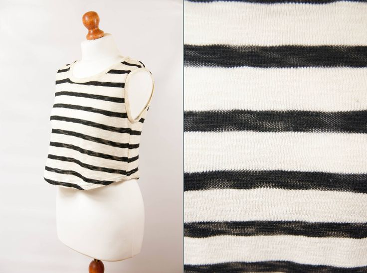 Cropped vest women, cropped pullover, striped vest, warm vest, knitted vest, crop vest, camisole vintage, vintage vest, cut out vest, size S by VintageEuropeDesign on Etsy