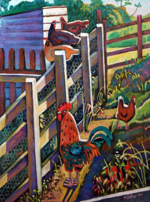 Happy chickens & cockerel at a working farm near Scarborough, North Yorkshire Format: Limited edition Giclee printed on 310 gsm PH neutral fine art archival paper. Single mounted  The prints are signed & come with a certificate of authenticity. Print size: 49 x 36cm Mounted size: 61 x 48cm