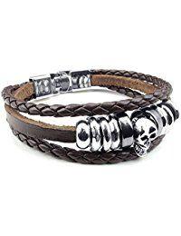 Amazon.fr : bracelet tete de mort : Bijoux