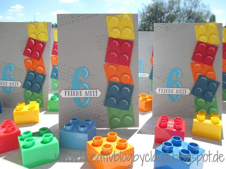 Lego card, Timeless Textures, large letters framelits