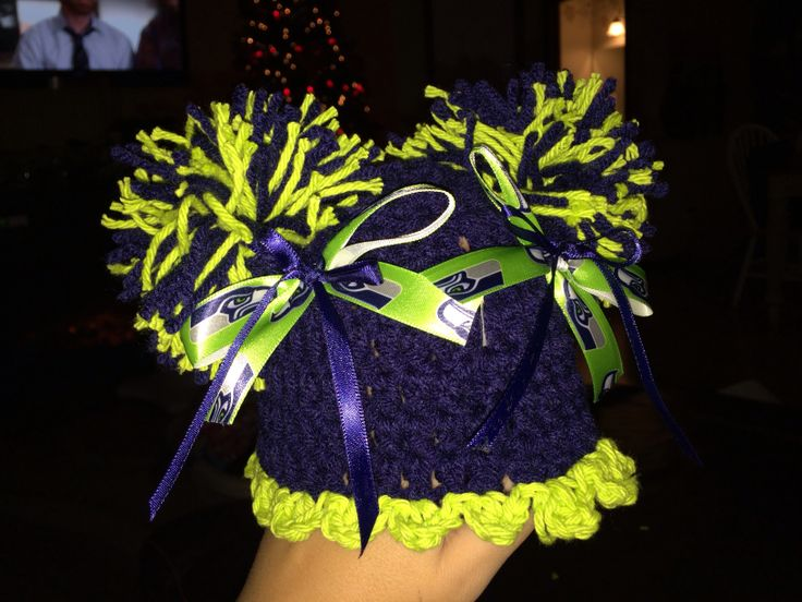 Seahawks Crochet Baby Girl Hat Wish Could