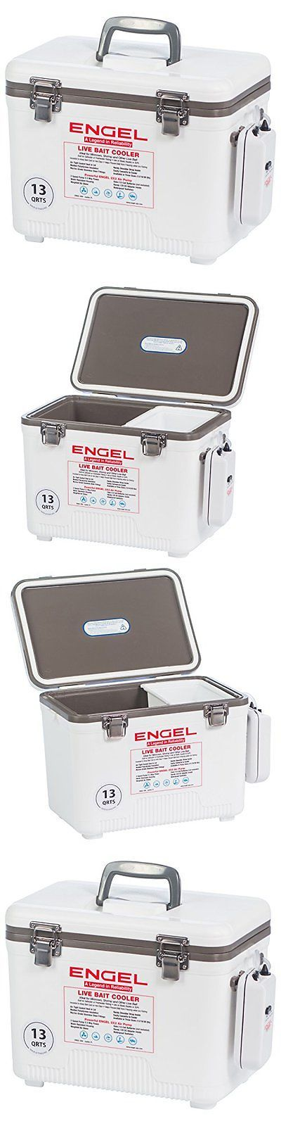 Bait Buckets 179986: 13 Quart Live Bait Cooler/Dry Box Air Pump White Sport Supply Fishing Accessory BUY IT NOW ONLY: $86.59