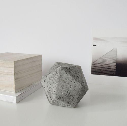 DesignSponge DIY Geometric Concerete Paperweight: