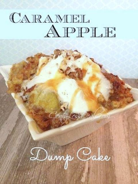 Caramel Apple Dump cake recipe with 4 ingredients! | CentsLess Deals