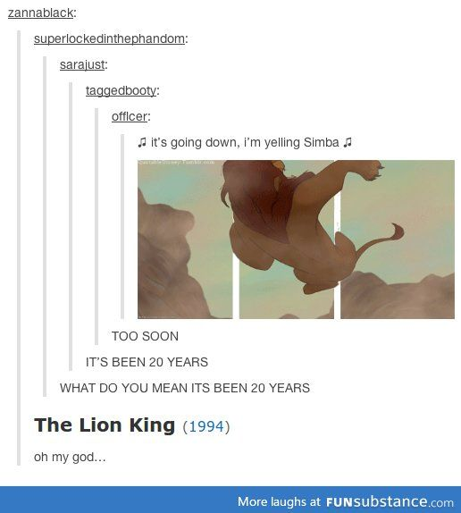 I feel so old.