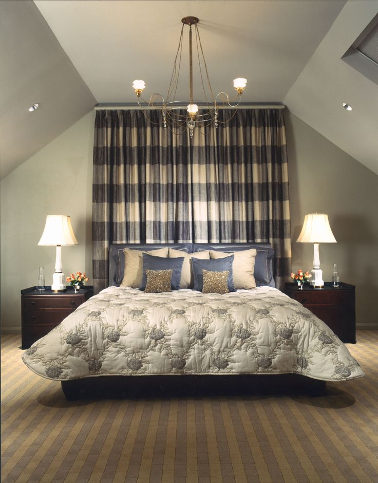 A subtle and sophisticated bedroom creation of