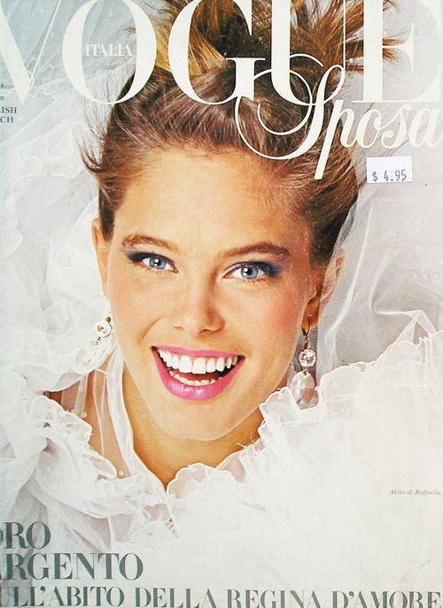 Vogue Italia January 1984 model Renée Simonsen  Photographer Bill King