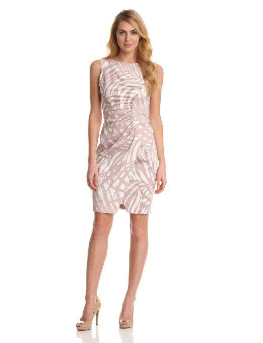 Amazon.com: London Times Women's Printed Tulip Skirt Dress: Clothing