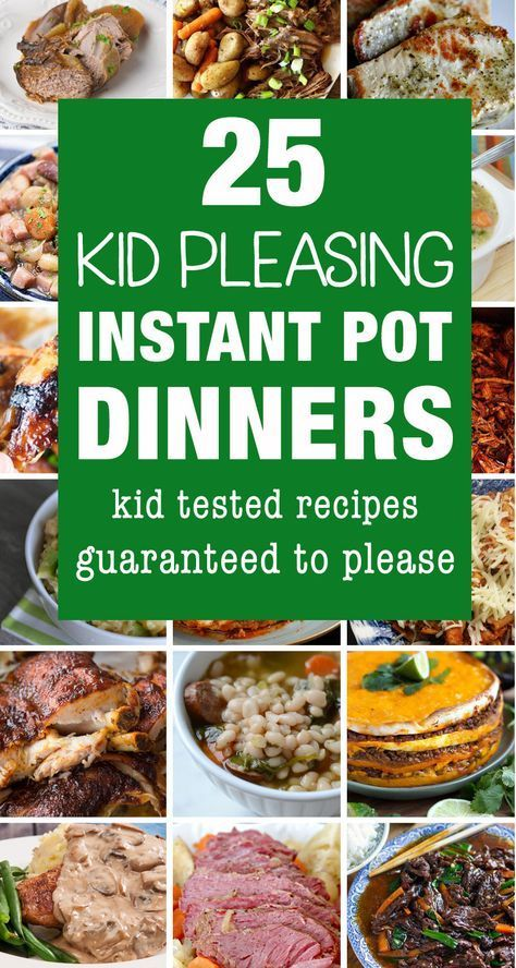 Instant pot recipes that are kid friendly and perfect for family dinners. Your k...
