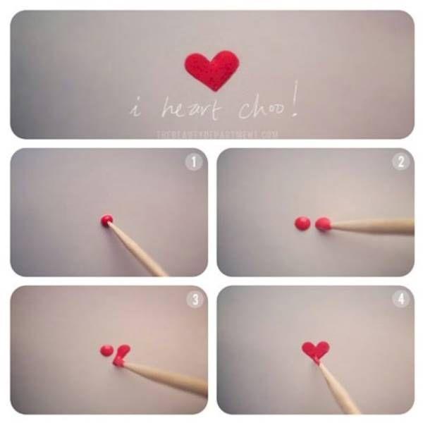 Kreativa DIY Nail Art design som faktiskt lätt att göra -> Gör hjärtan med nagellack