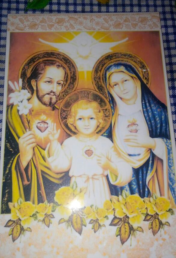 Calco vitrificable full color de motivo religioso en placa de 20x30cm (foto cortesía de Patricia Baez).