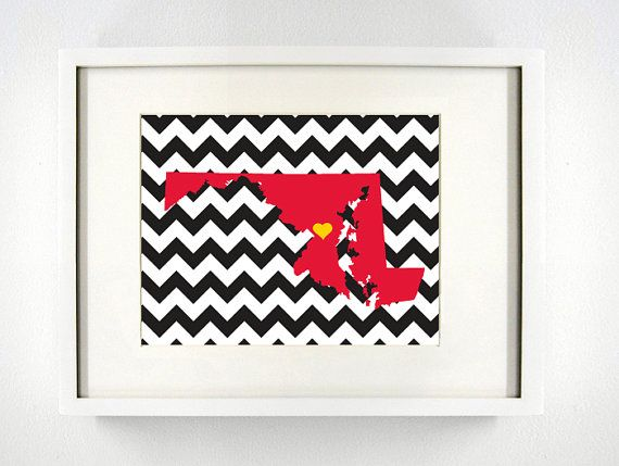 University of Maryland Giclée Print  8x10  Go Terps by PaintedPost, $14.00
