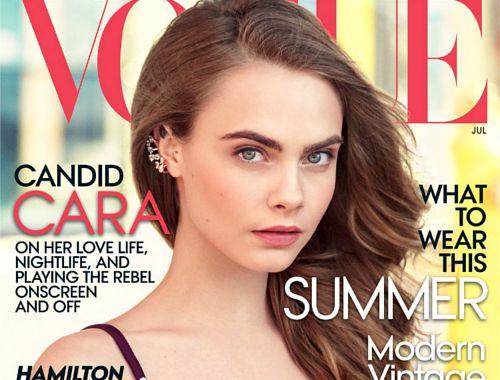 Cara Delevinge na okładce Vogue US, WeLoveYouCara, Vogue, Cara Delevingne solo Vogue cover