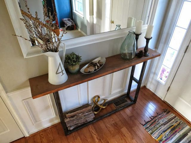 DIY Pottery Barn Knock Offs • Lots of great Ideas and Tutorials! Including, from 'east coast creative', this rustic but sophisticated DIY console table.