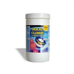 SEM FLOCULANTE:  Compatível com o filtro de cartucho.  As pastilhas permitem uma clorização lenta e permanente da água  4 Acções:  • Desinfectante • Anti-algas • Estabilizador de cloro • Anti-calcário