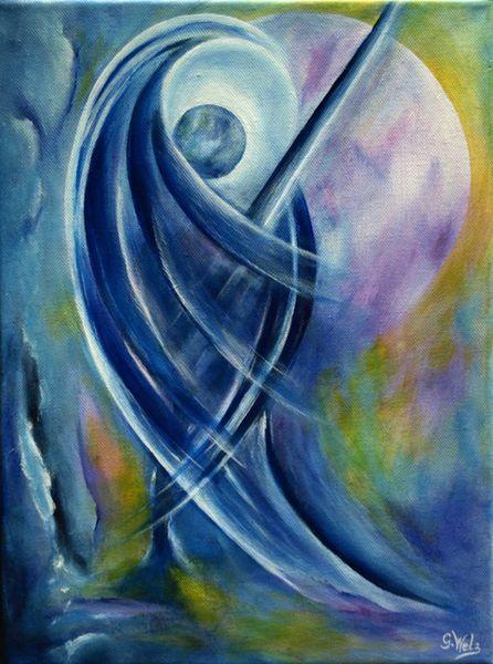 Acrylmalerei - Erzengel Michael - ein Designerstück von Kaliopra bei DaWanda