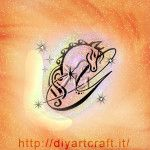 Cavallo e maiuscola G con scintille idea tattoo diyartcraft.it