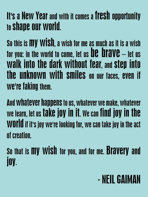 Neil Gaiman New Year Quotes: Best 25+ Wishes For New Year Ideas On Pinterest