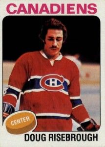 Man, that picture of Doug Risebrough reminds me of someone…     Oh, wait. It's not Doug. It's rare through the history of hockey cards for the wrong player to be pictured on the front of hockey card. It is nearly impossible for one player to have his hockey card screwed up in this manner twice.