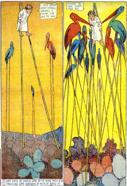 """appendixjournal:    Winsor McCay, """"Little Nemo in Slumberland,"""" 1905. The entire print run of the comic is in the public domain and archived here."""