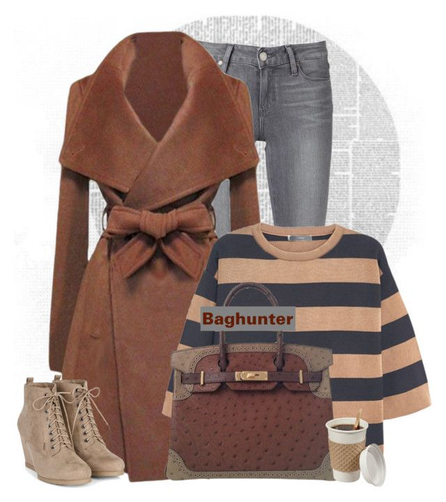 """""""Hot chocolate!"""" by budding-designer ❤ liked on Polyvore featuring Paige Denim, MANGO, Hermès and highend"""