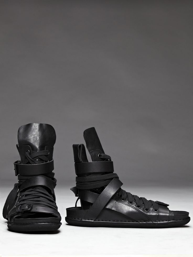 ann demeulemeester leather lace up sandal