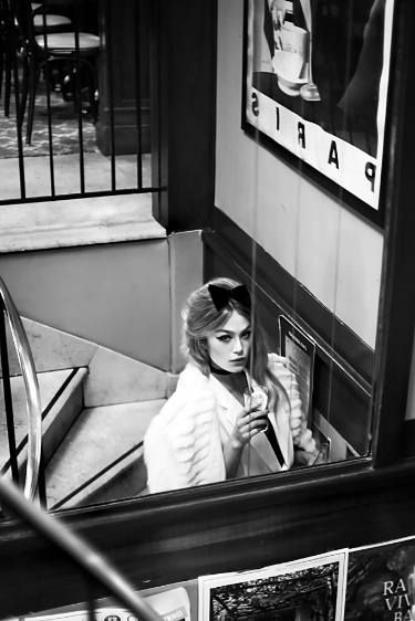 "Saatchi Art Artist Dana and Stephane Maitec; Fashion Photography, ""Cafe de Flore #2 - Limited Edition 3 of 25"" #art"