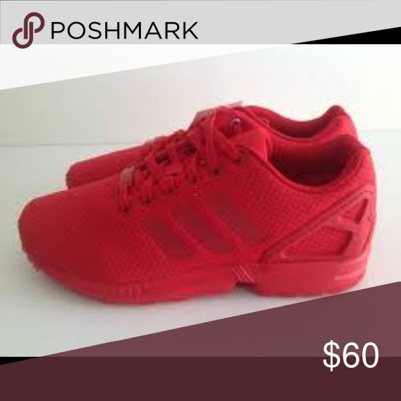 Adidas Zx Flux (all red) Slightly worn adidas Shoes Sneakers