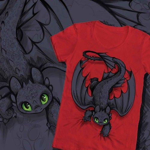 Dreamworks Dragons Kinder T-Shirt Ohnezahn Toothless
