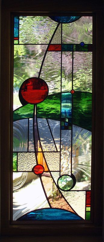Stained glass portfolio, examples of work by Derbyshire-based artist Dave Griffin #StainedGlassAbstract