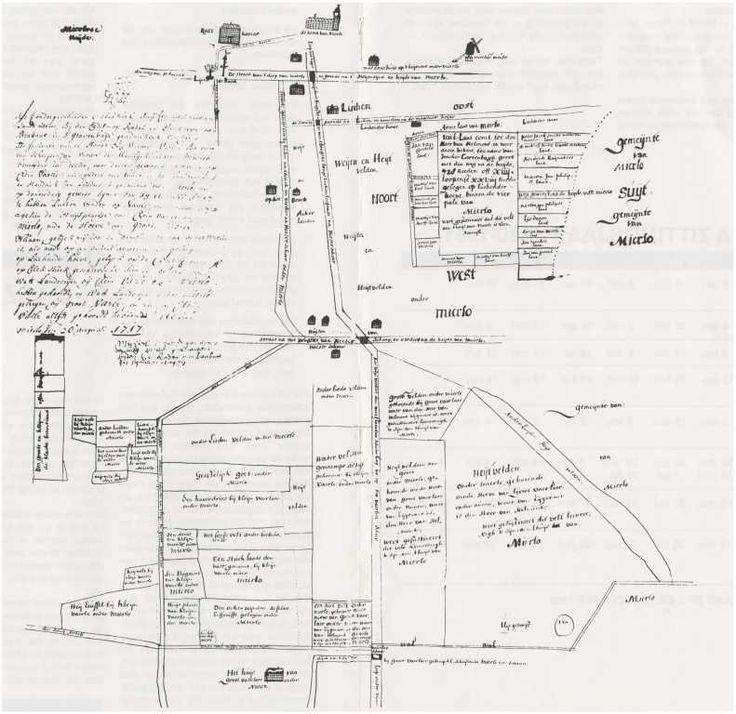 Kaart van een akker bij de Luchender-Hoeve en het gebied Kleine-Vaarle te Mierlo en Groot-Vaarle te Nuenen. Opgemeten ten behoeve van de Vrouwe van Mierlo, zie tekst in cartouche. Datering1717