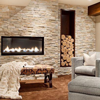 Elevated Fireplace Design Ideas