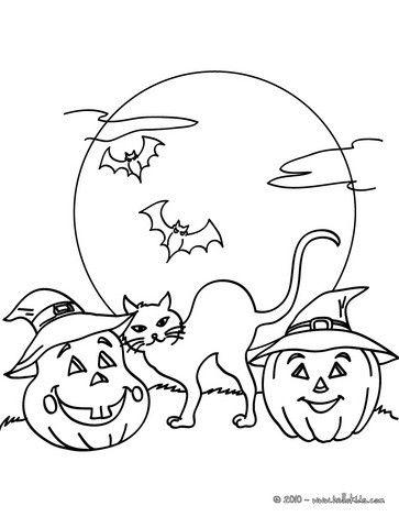 Black Cats Pumpkin Coloring Pages Mandala Jack O Lantern Bats Lanterns Pumpkins Oconnell