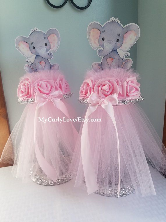 baby elephant centerpiece girl elephant baby shower girl baby etsy rh pinterest com