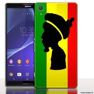Coque Telephone Portable Originale Rasta pour Sony Z3 - Coque silicone ou rigide. #Housse #coque #sony #xperia #z3 #case #cover #phone #telephone #portable #rasta #fun #couleur