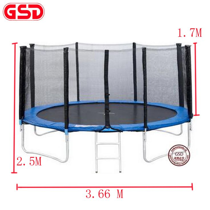 GSD High quality 12 Feet Adults Spring Trampoline with Safety Net Fits TUV-GS,CE was approved