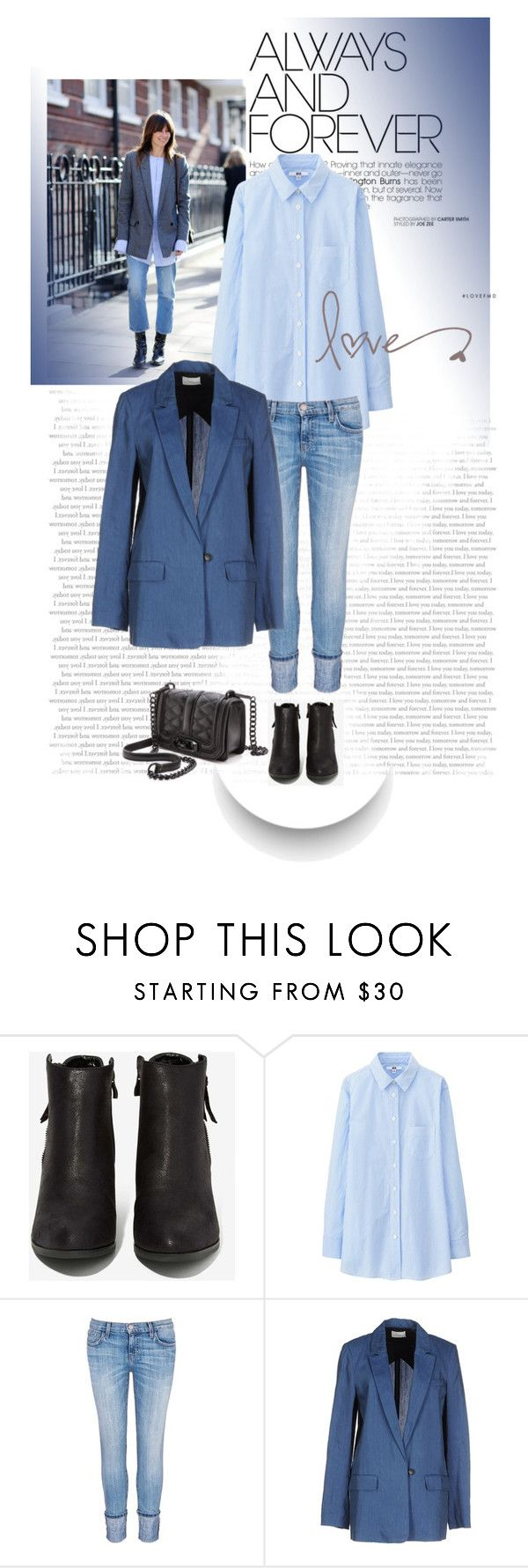 """It suits her............"" by style-stories ❤ liked on Polyvore featuring N.Y.L.A., Uniqlo, Current/Elliott, Forte Forte and Rebecca Minkoff"
