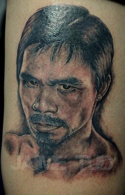 Tatuagem do boxeador Manny PACMAN Pacquiao Tatuagem do boxeador Manny PACMAN Pacquiao