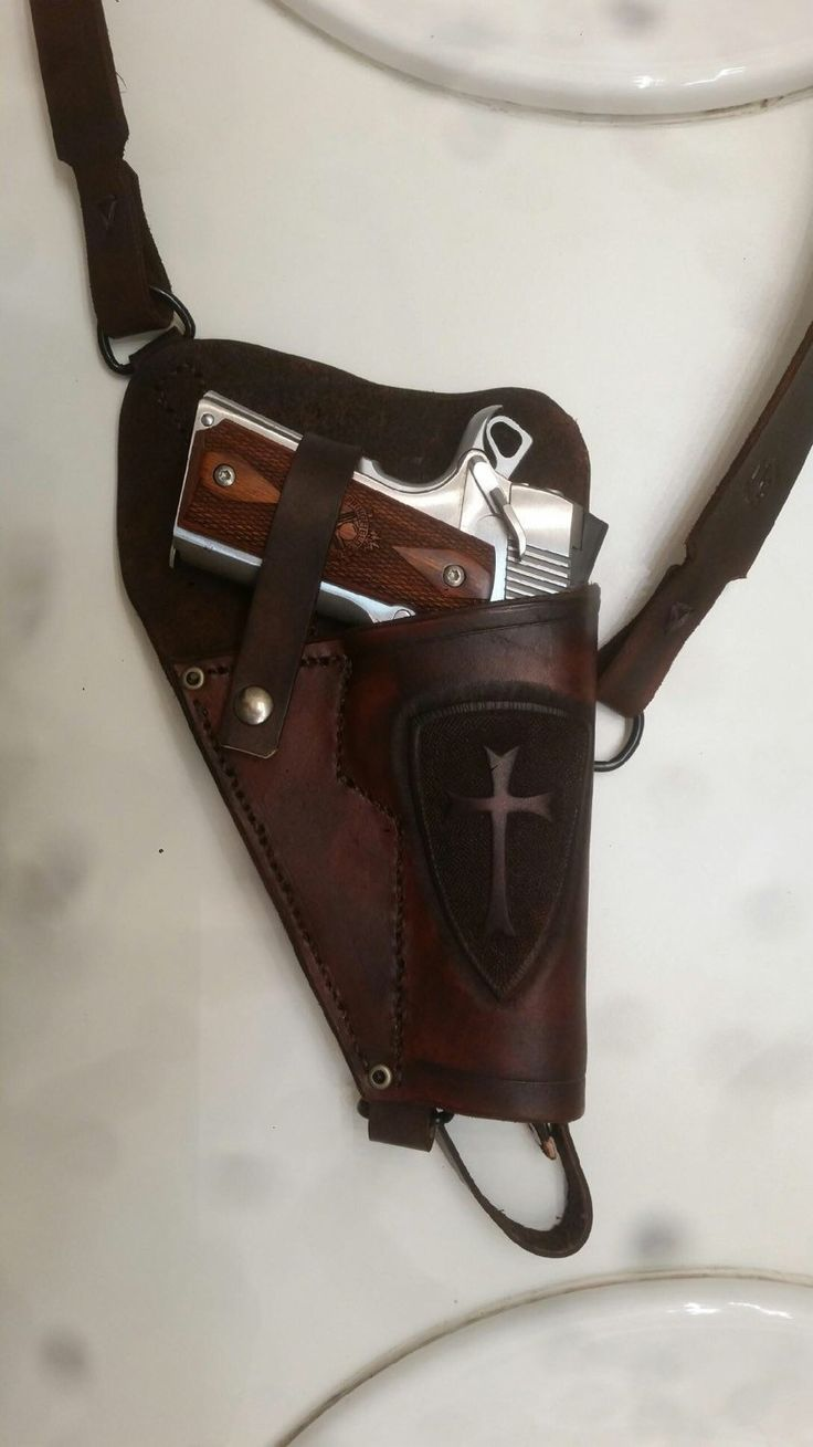 Custom Leather Shoulder holster for 1911 pistol. by CobbHomestead on Etsy https://www.etsy.com/listing/253685711/custom-leather-shoulder-holster-for-1911