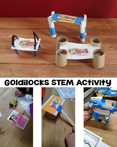 Fairy Tale STEM - Goldilocks STEM Activity for grades 1-3. Use a familiar story to work through the engineering design process. Ask - Imagine - Plan - Create - Improve | momgineer                                                                                                                                                      More
