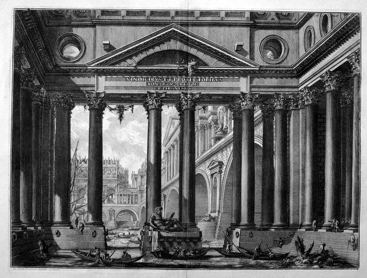 Giovanni Battista Piranesi, Secondo frontespizio del IV tomo delle Antichità Romane, 1743 ca, acquaforte
