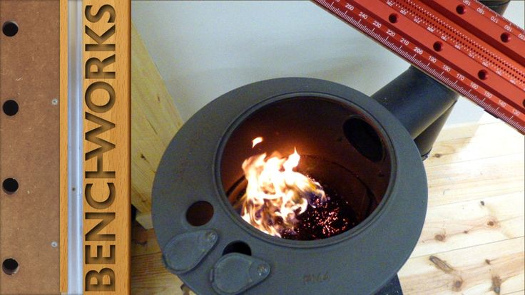 Heating the workshop with saw dust