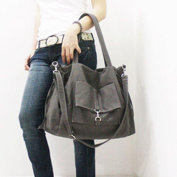 SALE - 20% OFF EZ in Dark Gray / Crossbody Bag / diapers bag / Shoulder Bag / Handbags / School bag / Purses / tote / women / For Her / Gift
